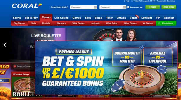 Coral's Bet and Spin Premier League Promotion