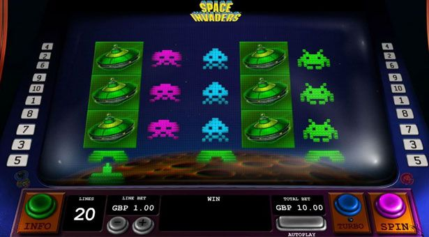 Space Invaders Slot at Playtech Casinos