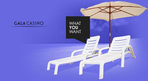 What You Want for Summer Promo at Gala Casino